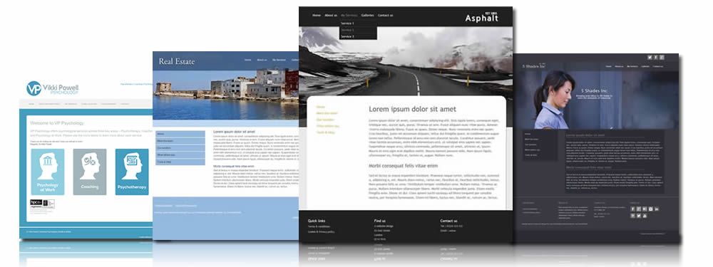 Brochure websites, style