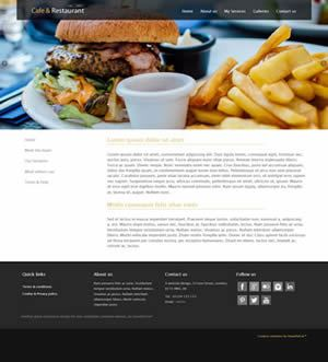 Cafe & Restaurant website design
