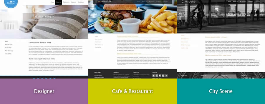 Modern website designs